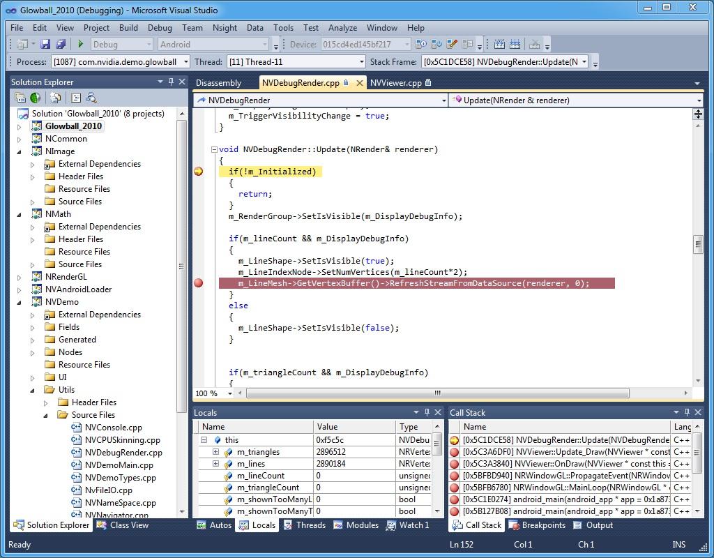 Nsight Tegra, Visual Studio Edition