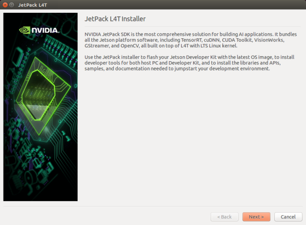 Download and Install JetPack