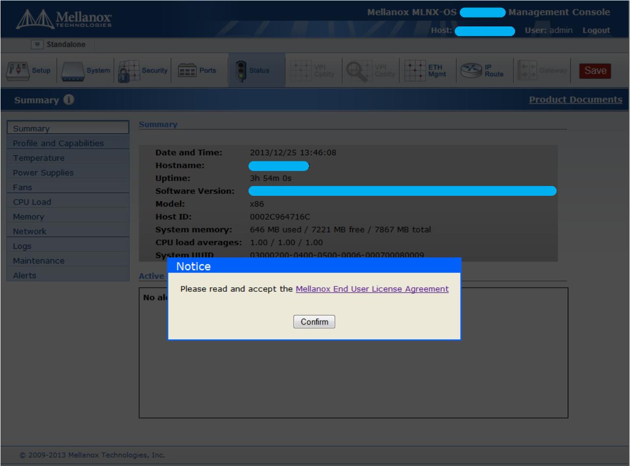 Getting Started - MLNX-OS v3 8 1000 - Mellanox Docs