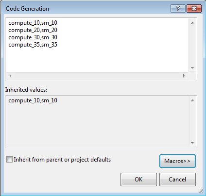 Configure CUDA Project Properties